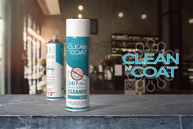 "AFFIX Labs has launched its latest surface cleaning product, ""Clean N Coat"", which is applied like any alternative but that leaves a nearly invisible, ultra-thin, anti-microbial coating actively protecting surfaces for up to 7 days. In tests, the coating lasted for over 300 touches. 