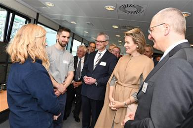 Royal visit of the BioWanze site.  (Photo: BENEO, PR001)