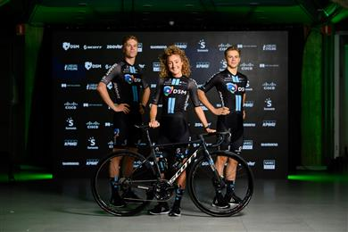 Pro cycling's newest elite team unveiled – Team DSM. 