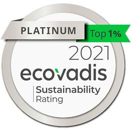 Archroma awarded EcoVadis Platinum Medal for its CSR performance, joining top 1% best rated companies. (Photos: EcoVadis)