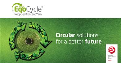 Caption: B.I.G. Yarns launches EqoCycle Yarns designed with circular economy benefits & high performance for the carpet industry.